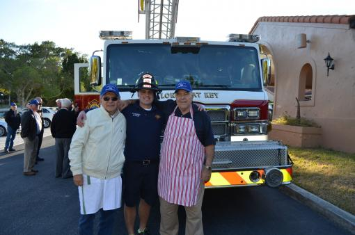 Leonardo Distefano, firefighter and paramedic Matt Taylor and Joe Zampino