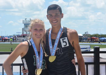 Sophia Falco and John Rivera, Lakewood Ranch'   s track and field stars, have been dating for just over a year.
