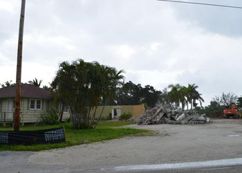Demolition of the Longboat Key Center for the Arts began this month.
