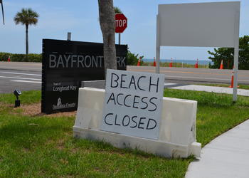 Town officials expect construction of the park's beach access will be finished by October.