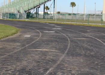 Lakewood Ranch High School's asphalt track will soon be resurfaced with a rubberized material, making for a more safe training environment for students.