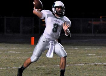 Lakewood Ranch quarterback Justin Curtis threw three touchown passes. (courtesy Dan Miller)