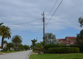 Country Club Shores power lines