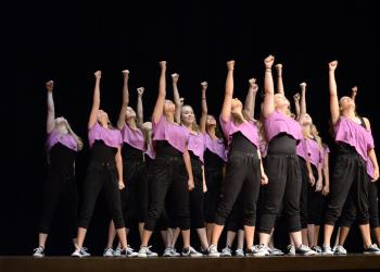 The Braden River Middle School team performed a routine to Beyonce's Rule the World.
