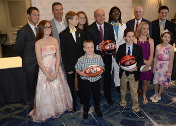 Dick Vitale and the honorees