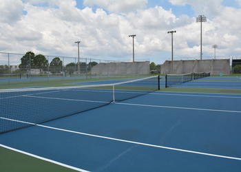 With tax revenues, Manatee County proposes removing and replacing the tennis courts at Lakewood Ranch District Park.