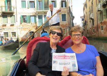 Laurie Lachowitzer and Linda Brown went to Rome, Italy on an Insights Tour and took their Observer along!