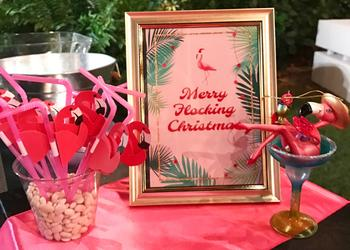 "The theme of the party was ""Jingle & Flamingle"" to celebrate the holidays Florida style. Photo courtesy of Erin Christy"