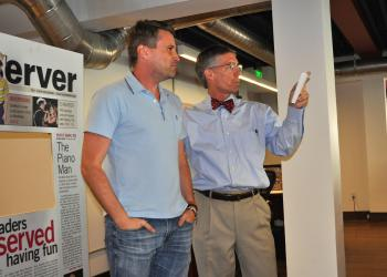 Matt Orr, brainchild of This Week in Sarasota, and Matt Walsh, Editor and CEO of the Observer Group