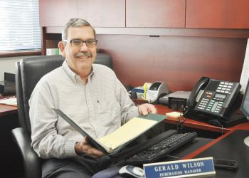 Purchasing Manager Gerry Wilson is retiring Feb. 23, after 11 years with the town.
