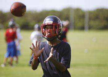 Brandon Luckett started playing football when he was 11 years old.