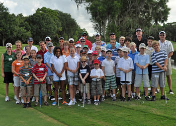 Thirty-two children participated in the final week of the Mustang Golf Camp, which was put on by the Lakewood Ranch High golf teams.