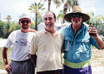 Founder and Co-Chairman of the Sister Keys Conservancy Rusty Chinnis, former Town Manager Al Cox and Harry Christensen celebrate the town of Longboat Key's purchase of Sister Keys. Courtesy photo.
