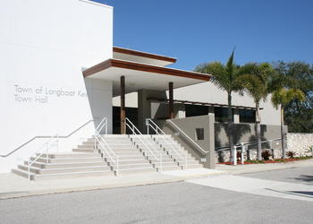 Longboat Key Town Hall is located at 501 Bay Isles Road.