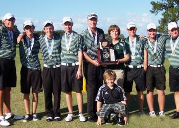 The Lakeood Ranch High boys golf team captured the Class 2A state championship Nov. 1-2, capping off a perfect 103-0 season. Courtesy photo.
