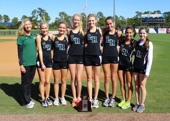 The Lakewood Ranch High girls cross country team earned a berth in next week's Class 3A state meet after finishing second in the Class 3A-Region 3 meet Nov. 11.