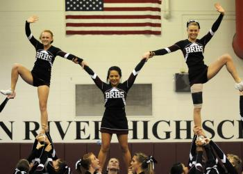 The Braden River High varsity cheerleading squad was one of five teams to compete in the school's Cheerfest Dec. 10.