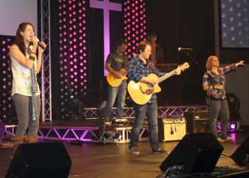 Bayside Community Church's band performed at this year's Rock Out for a Cause.