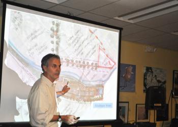 Architect Gary Hoyt presented the sketches at Wednesday's meeting.