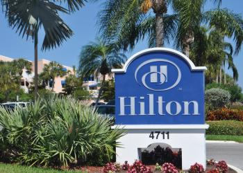 The Longboat Key Hilton Beachfront Resort currently has 102 rooms.