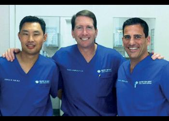 Drs. Joshua Kim, William Lahners and William Soscia. Courtesy photo.