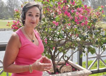 A pink shirt signifies Susan Levine's life-changing breast-cancer survival.