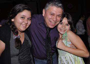 Isabella, Jonny and Angelina Ortiz spend most of their time on the dance floor.
