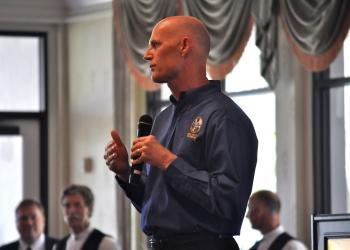 Gov. Rick Scott spoke about the economy, November elections and education during the luncheon.