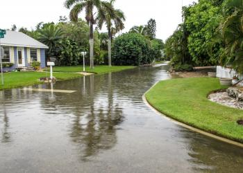 Flooding was reported in the Longbeach Village earlier this weekend. Courtesy of Mary Lou Johnson.