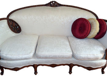 """We bought this antique sofa at an auction in St. Pete."" — Phil King"