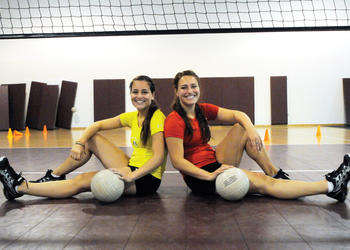 Maria and Sarah Soscia have been playing volleyball together since they were in third and fifth grade, respectively. The two Cardinal Mooney Catholic High School defensive specialists are now about to embark on their final season together on the court.