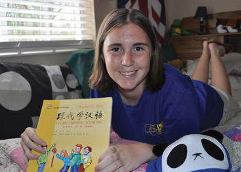 Sixteen-year-old Sarah Schoeffel says she loves learning about other cultures.