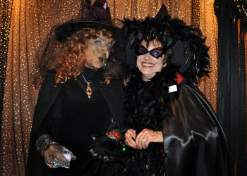 Rebecca Taylor and Karen Gallagher had a lot of fun dressing up as witches Wednesday, Oct. 31, at Bird Key Yacht Club.