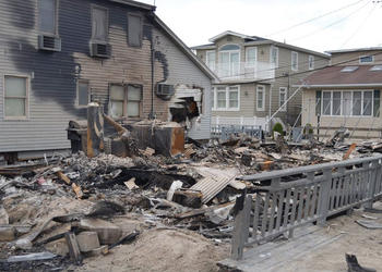 A fire following Superstorm Sandy destroyed Siesta resident Helene Hyland's childhood home in New York. Courtesy photo.