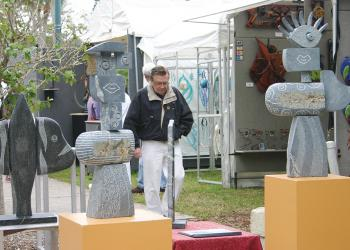Attendees can shop for a variety of handmade objects such as  $15 silver bracelets and life-sized sculptures in excess of $50,000. File photo.