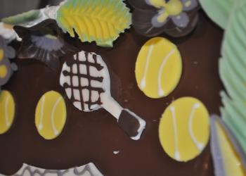 The Longboat Key Club marked the occasion with a tennis-themed cake.