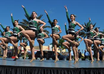 The Lakewood Ranch Mustangs Silver Stars Dance Team performed several routines.