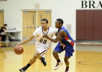 Braden River junior guard Zechariah Kendall scored 11 points for the Pirates in their 54-38 victory over Manatee in the Class 7A-District 11 quarterfinals Feb. 4.
