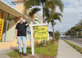 North Tamiami Trail property owner Jeff Oldenburg has fought to redevelop the corridor for nearly 20 years. Photo by Yaryna Klimchak.