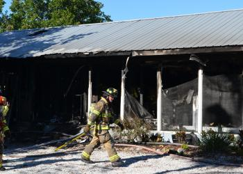 Approximately 20 firefighters were on scene Wednesday.