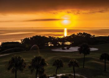 John Pan submitted this sunrise photo, taken over the eighth hole at the Longboat Key Club golf course.