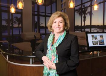 Judy Green, president and CEO of Premier Sotheby's International Realty, says she's scouting locations in the Tampa Bay area. Nancy DeNike.