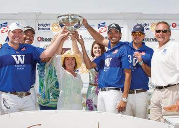 Wildcat celebrates after surging past Tito's 11-8 to win the USPA R.A.U. Final of All Children's Guild Cup March 31. Courtesy photo.