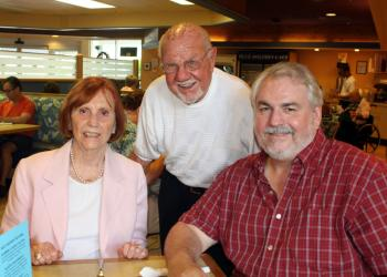 Joyce Huber was taken to brunch by her husband, Jim, and son, Mark, at The Blue Dolphin Café.