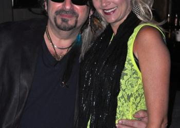 "Phil Mancini and Michelle Butler at ""Rock of Ages"" in September."