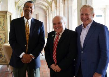 Twelfth Judicial Circuit Court Judge Charles Williams, New College of Florida President Donal O'Shea and Dan Boxser announced an initiative to bring Middle eastern