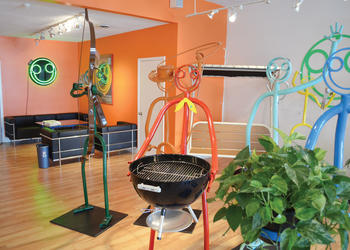 The new store and showroom contains about 30 of the metal sculptures. Photo by Roger Drouin