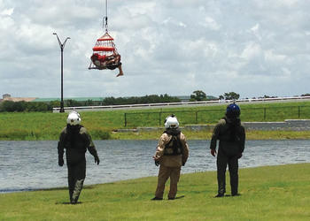 The Sarasota County Sheriff's Office and the Sarasota Police Department conducted water rescue training June 28, at Nathan Benderson Park.