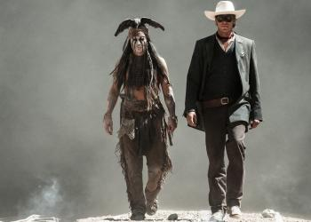 """The Lone Ranger"" is playing in theaters now."