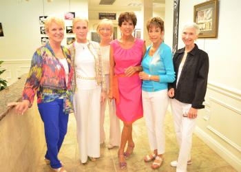 Sandy Greenberg, Dr. Holly Barbour, Joan Campo-Liga, Jan Zipper, Susan Roosa and Aynne Manning